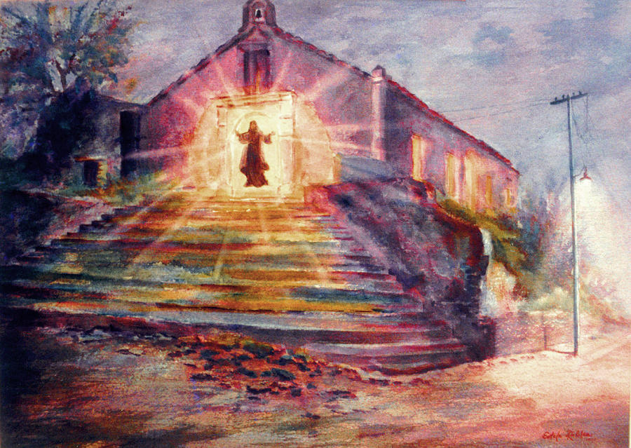Churches Paintings Painting - Porta Coeli by Estela Robles