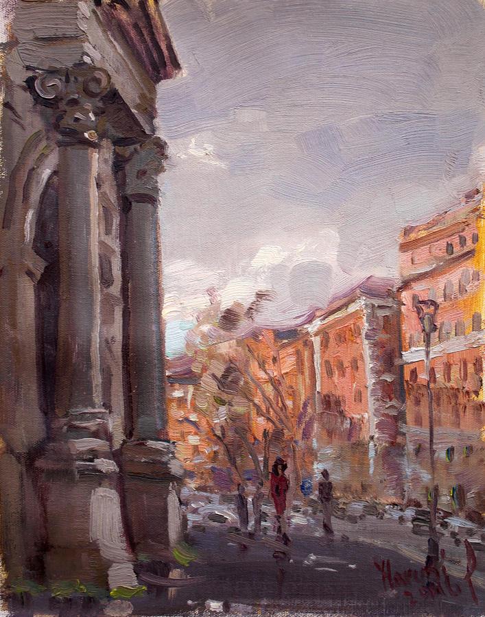 Rome Painting - Porta Pia Rome by Ylli Haruni