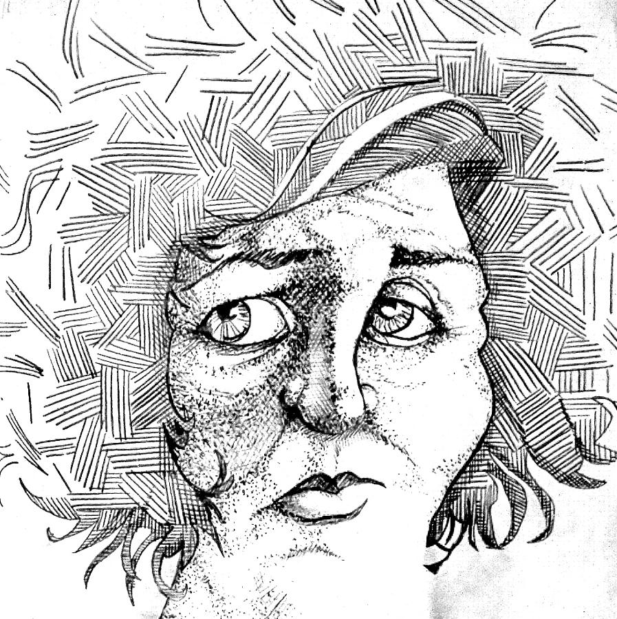 Drawing Drawing - Portait Of A Woman by Michelle Calkins