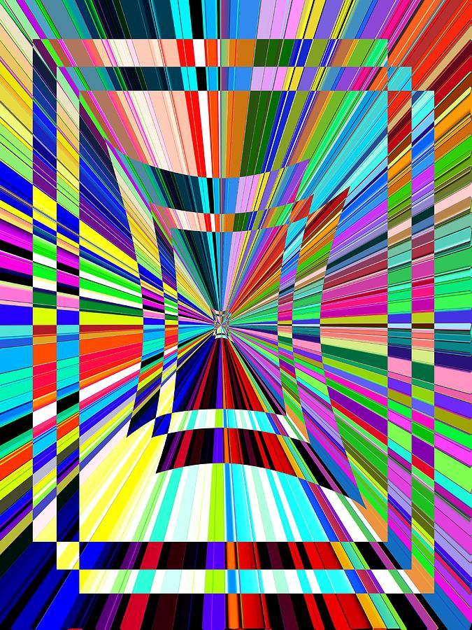 Abstract Digital Art - Portal 3 by Tim Allen