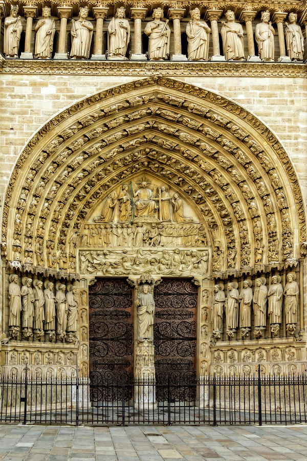 Portal of Last Judgment, Notre Dame, Paris by Kay Brewer