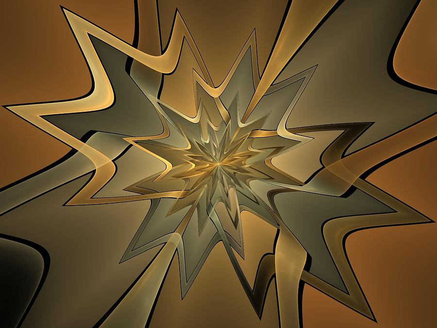Fractal Digital Art - Portal Of Stars by Amorina Ashton