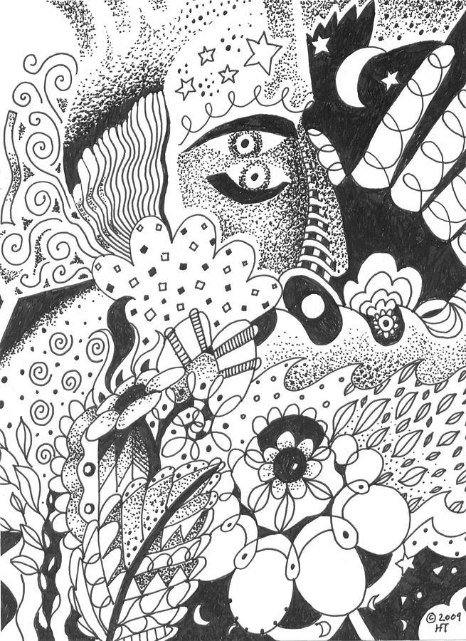 Awakening Drawing - Portals by Helena Tiainen