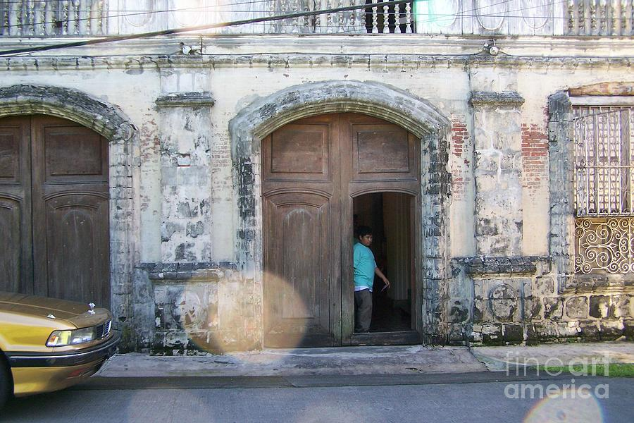 Door Photograph - Porte Cochere by Dindin Coscolluela