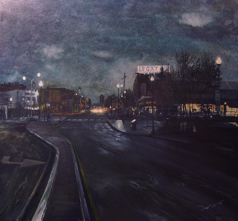 Landscape Painting - Porter Square by Richard Ong