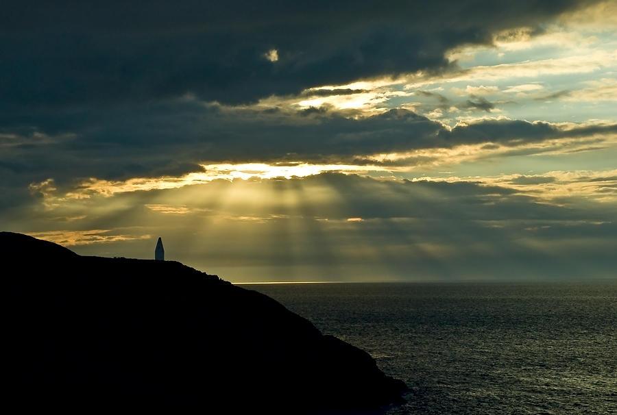 Coast Photograph - Porthgain Sunbeams by Gareth Davies