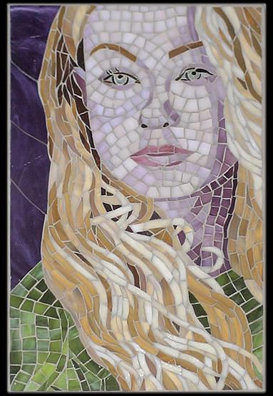 Woman Glass Art - Portia by Christine Brallier