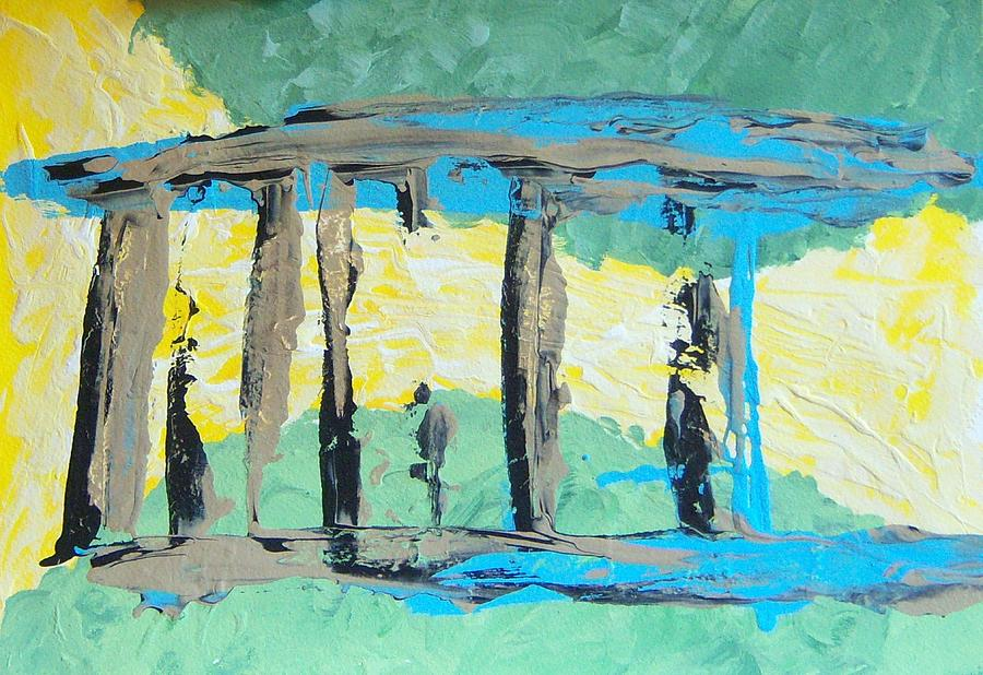 Portico Painting - Portico by Helene Henderson