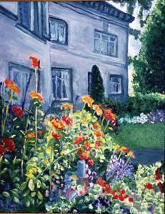 Portland Garden Painting by Frank Sharp