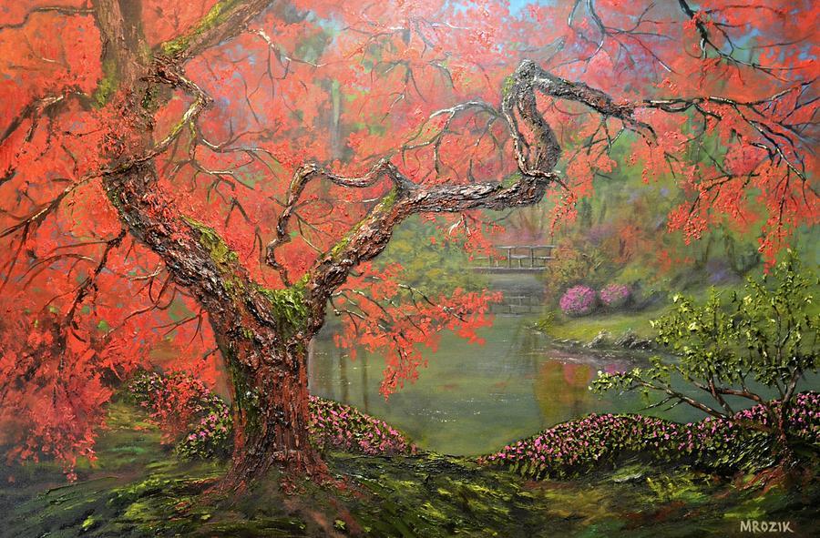 Portland Garden Painting