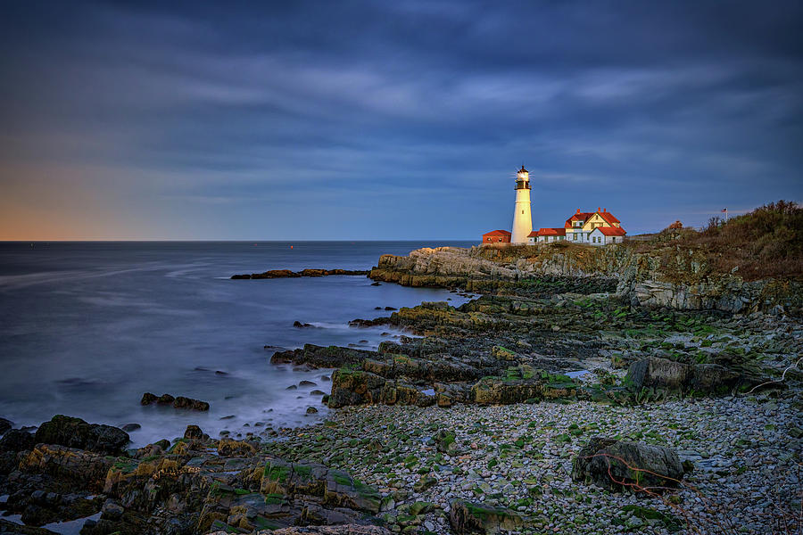 Portland Head Lighthouse Photograph - Portland Head Aglow by Rick Berk