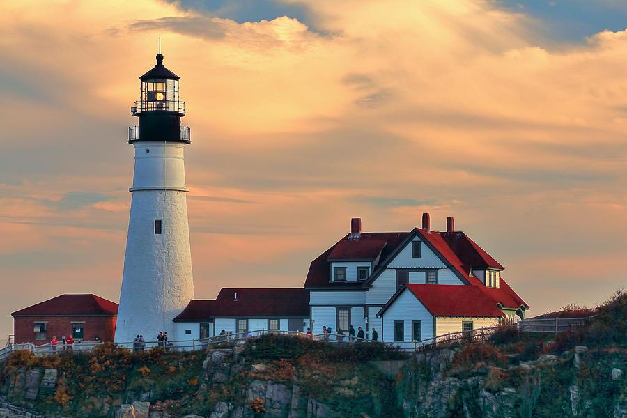 Maine Photograph - Portland Head Light-cape Elizabeth, Maine by Brian Pflanz