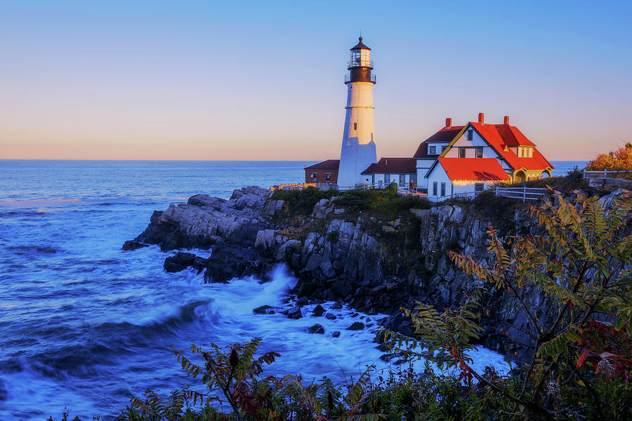 Portland Head Light Photograph - Portland Head Light II by Chad Dutson