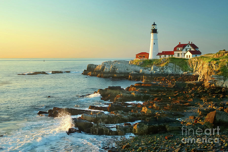 Coastline Photograph - Portland Head Light No. 2  by Jon Holiday