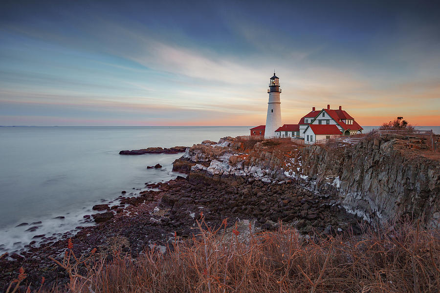 Portland Headlight by David Hufstader