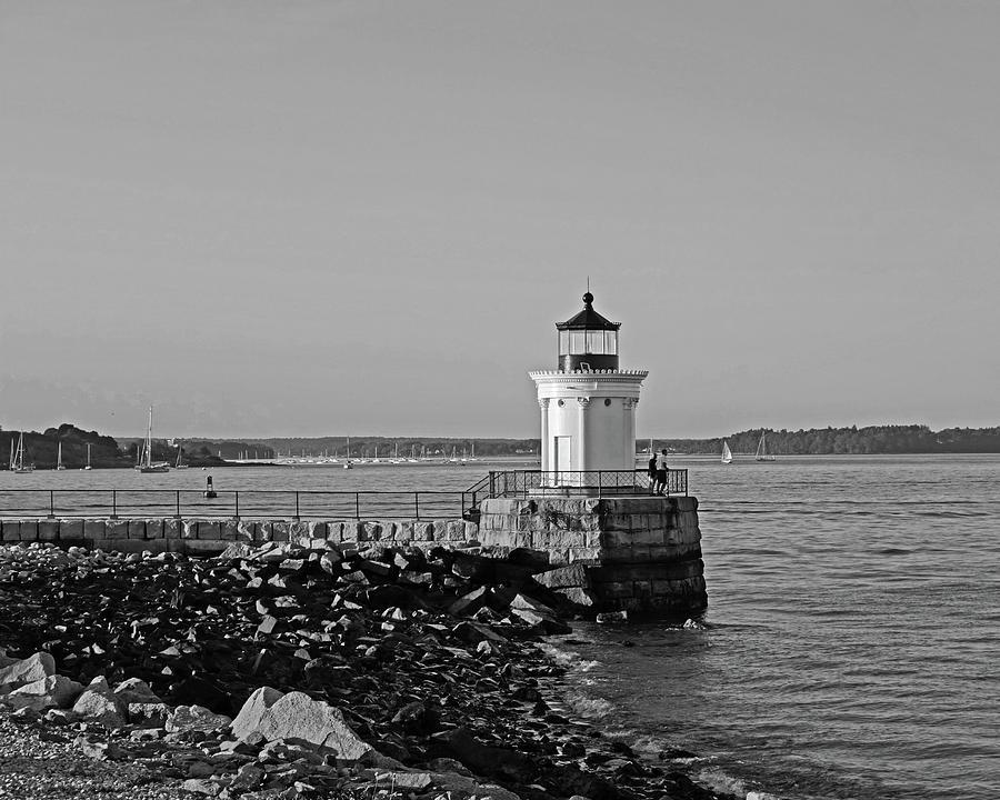 Portland Photograph - Portland Maine Bug Light Park Black And Whtie by Toby McGuire