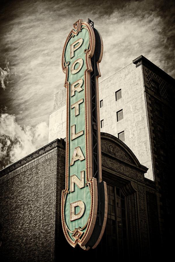 Portland Photograph - Portland Marquis by Danielle Denham