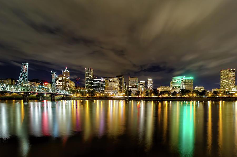 Portland Photograph - Portland Nightscape by David Gn
