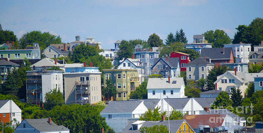 Portland Photograph - Portland Rooftops by Faith Harron Boudreau