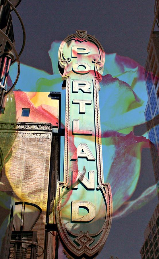 Sign Photograph - Portland Sign by Cathie Tyler