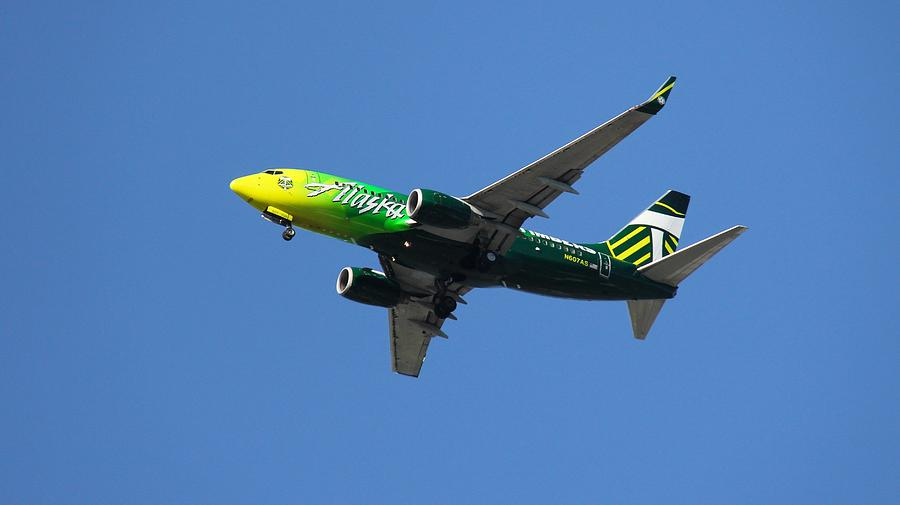 Portland Timbers - Alaska Airlines N607as Photograph
