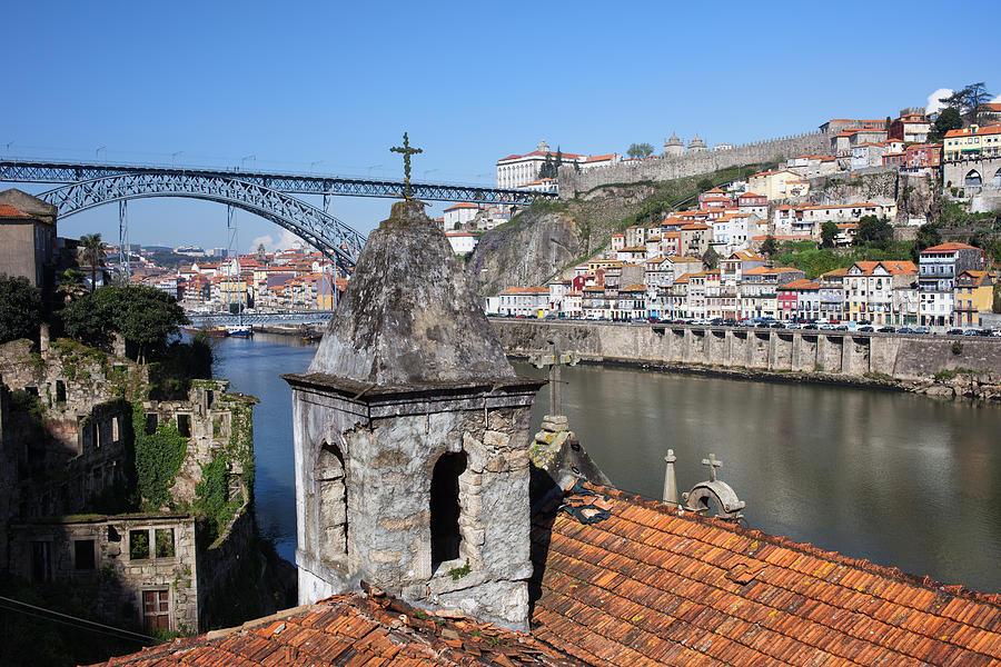 Oporto Photograph - Porto And Gaia Cityscape In Portugal by Artur Bogacki