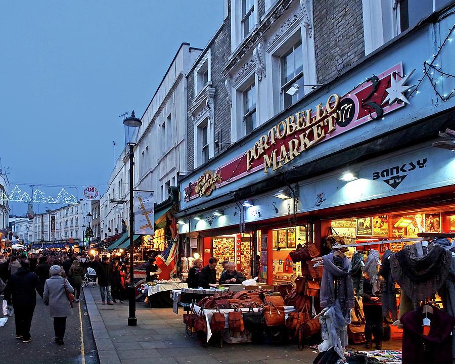 Portobello Road London Street Market Photograph by Gill Billington