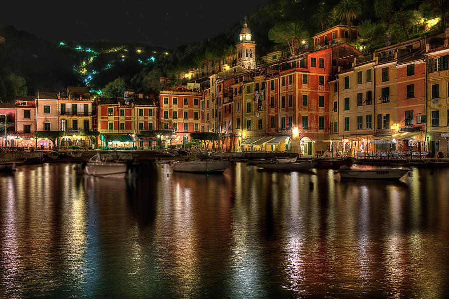 Portofino Photograph - Portofino Bay By Night II - Notte Sulla Baia Di Portofino II by Enrico Pelos