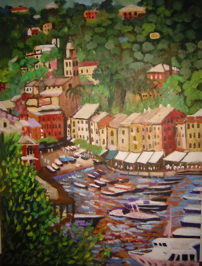 Italy Painting - Portofino by Fran Steinmark