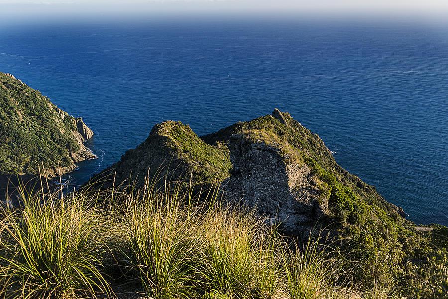 Portofino Photograph - Portofino Green And Blu Liguria Rocks And Sea by Enrico Pelos