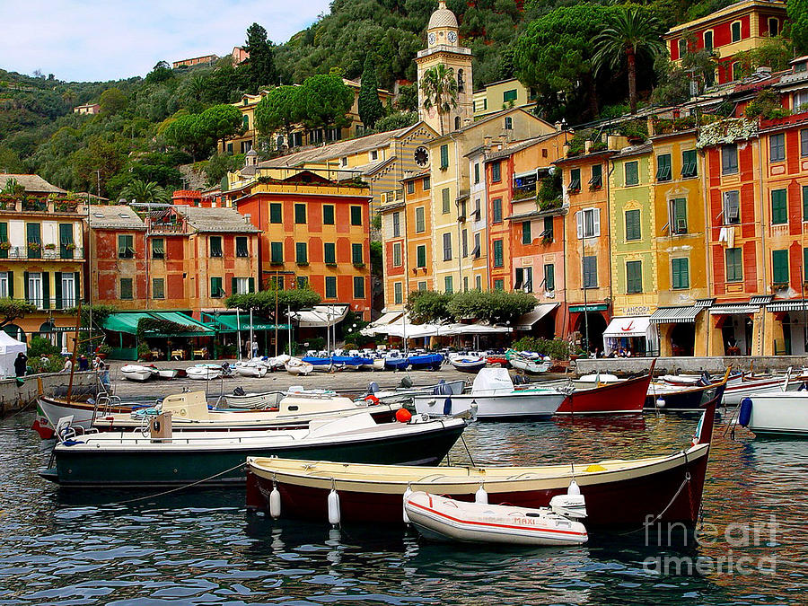 Portofino Photograph - Portofino Italy by Nancy Bradley