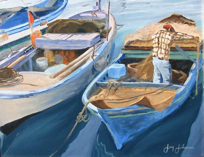 Portofino Jewels Painting by Jay Johnson