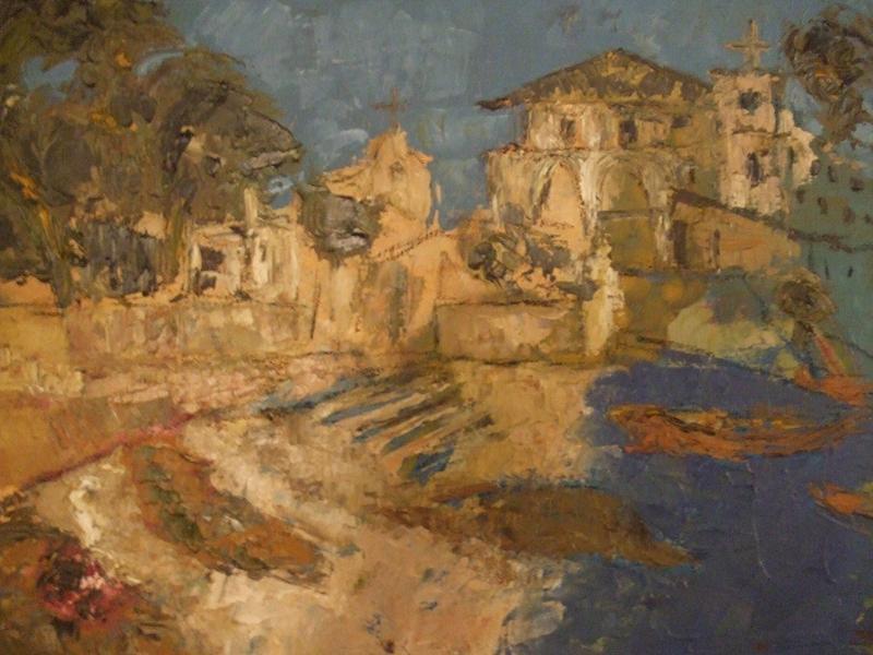 Landscape Painting - Portofino by Mauro Longordo