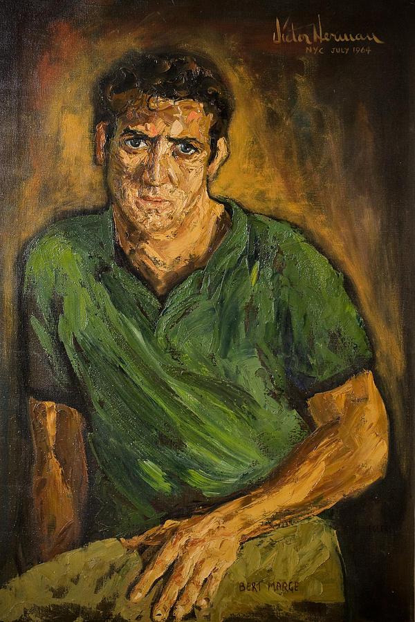 Man Painting - Portrait - Bert Marge by Joni Herman