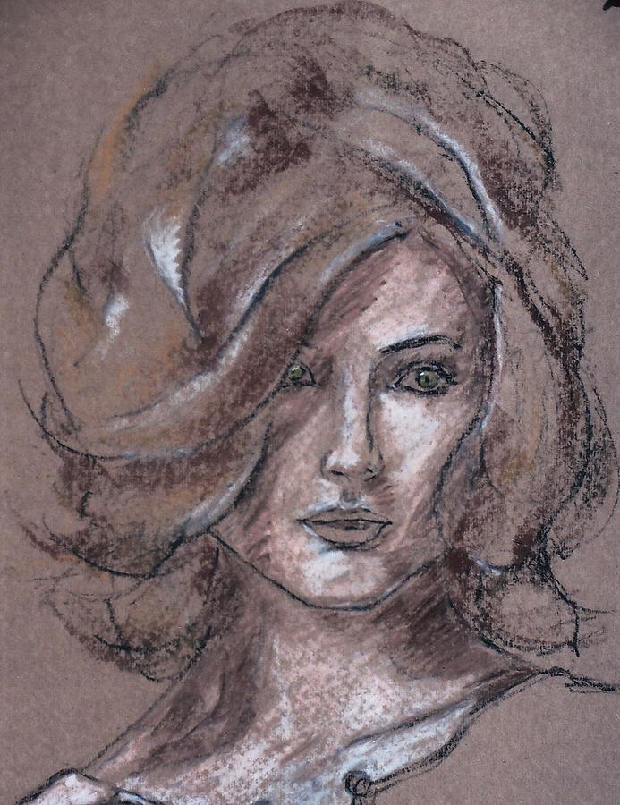 Portrait Pastel - Portrait 46 by Mohd Raza-ul Karim