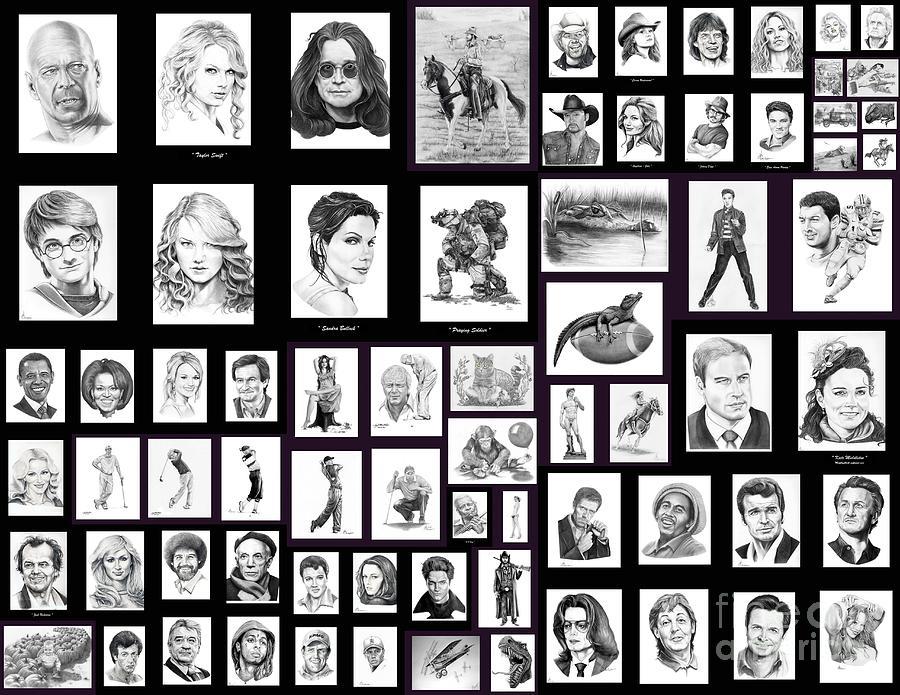 Portraits Drawing - Portrait And Illustrations On Fine Art America by Murphy Elliott