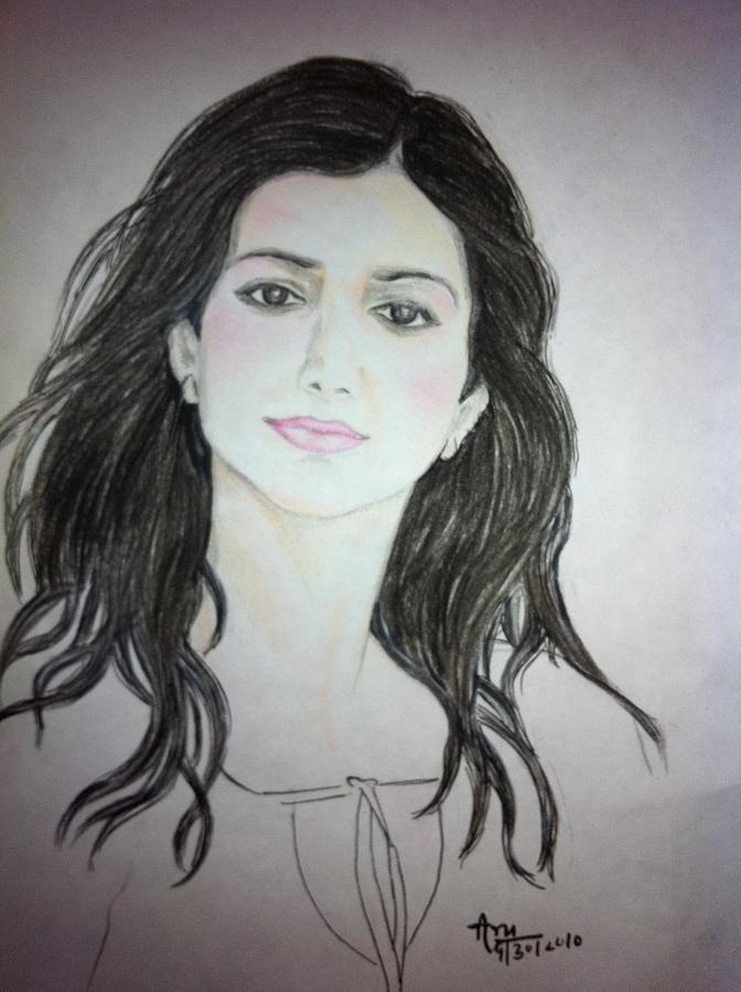 Portrait- Aru Drawing by Aradhana Pandey
