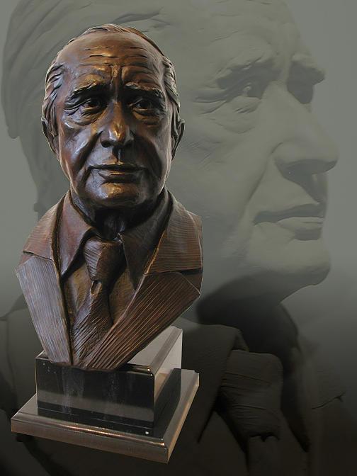 Bronze Sculpture - Portrait Bust Of Patron by John Gibbs