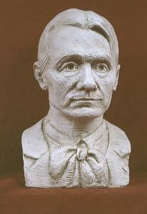 Rudolf Steiner Sculpture - Portrait Bust Of Rudolf Steiner by David Dozier