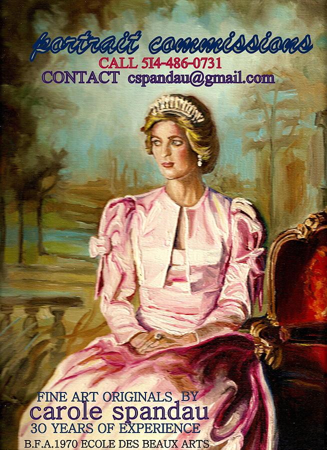 Custom Portraits Painting - Portrait Commissions By Portrait Artist Carole Spandau by Carole Spandau