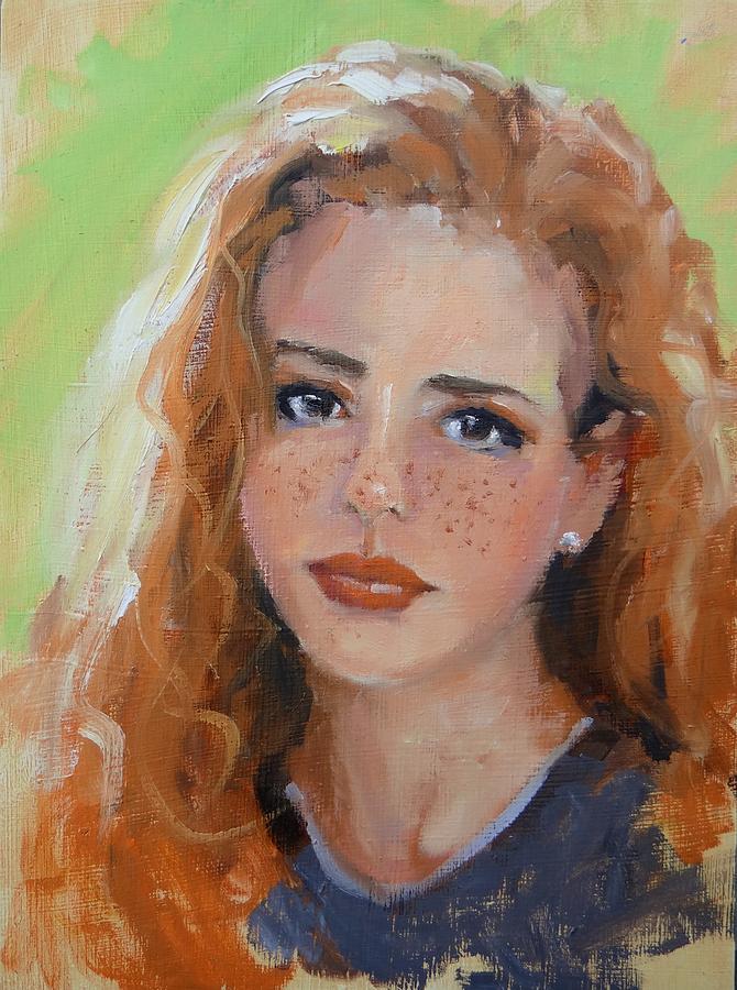 Portrait Painting - Portrait Demo Four by Laura Lee Zanghetti