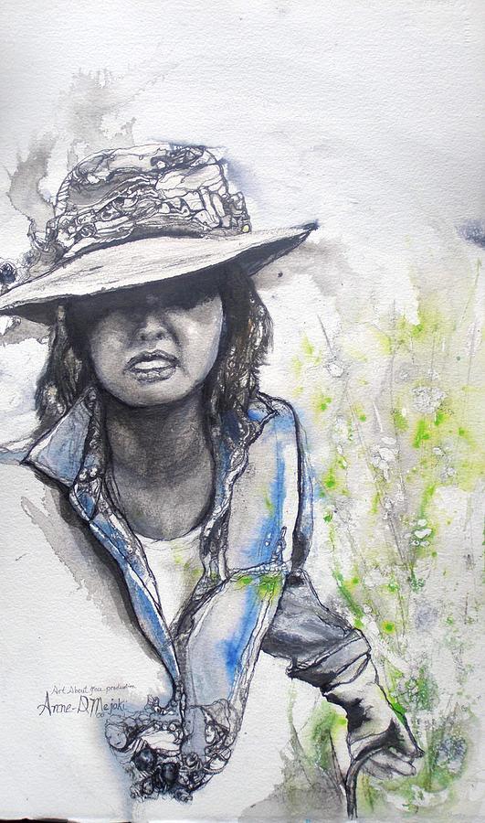 Portrait Painting - Portrait For Mic by Anne-D Mejaki - Art About You productions