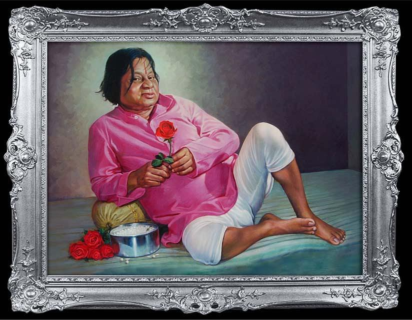 Painting Painting - Portrait Gulabbaba by Milind Shimpi