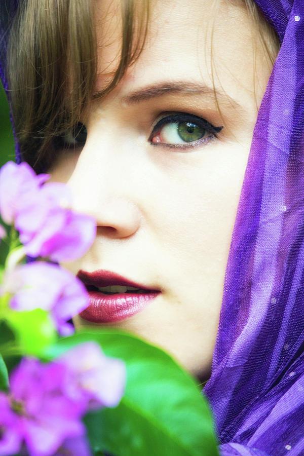 portrait in purple by Rochelle Berman