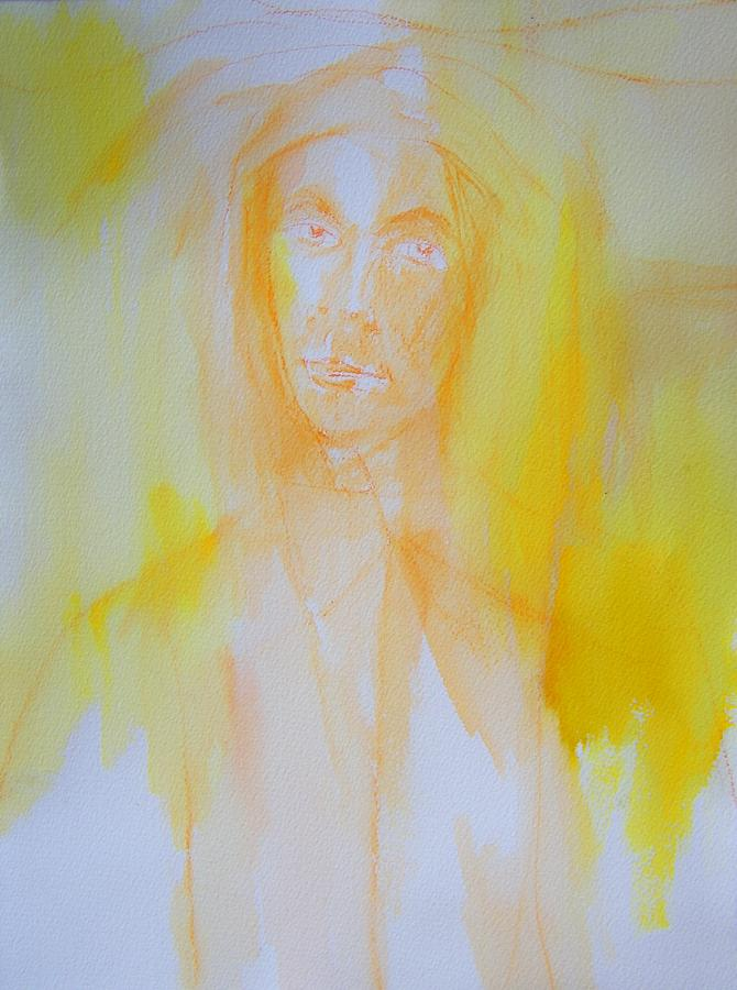 Abstract Painting - Portrait In Yellow by Judith Redman