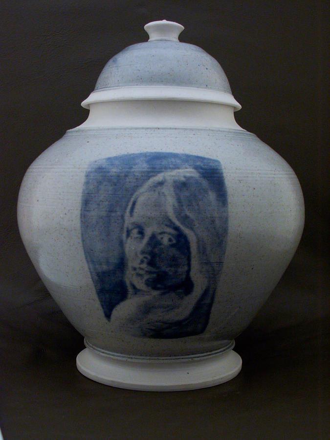 Ceramics Ceramic Art - Portrait Jar by Alan Millican