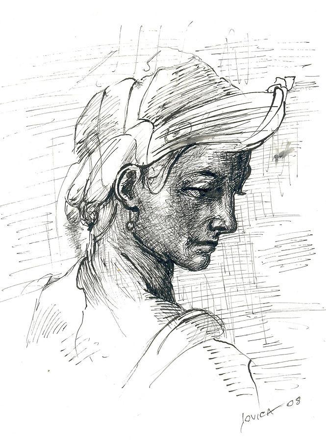 Portrait Drawing - Portrait by Jovica Kostic