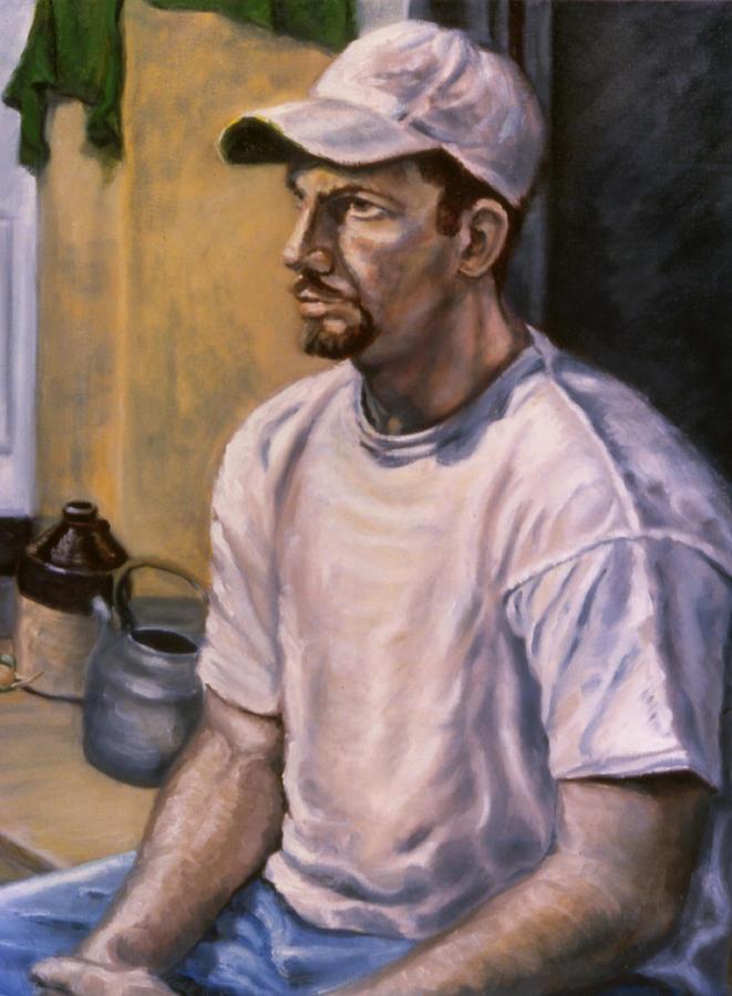 Man Painting - Portrait Mark by John Clum