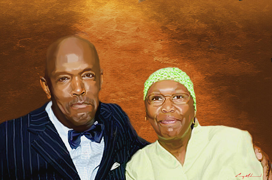 Portrait Painting - Portrait Mr. And Mrs. Hussain Muhammad by Carey Muhammad