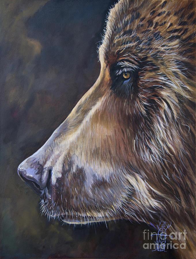 Portrait of a Bear by J W Baker